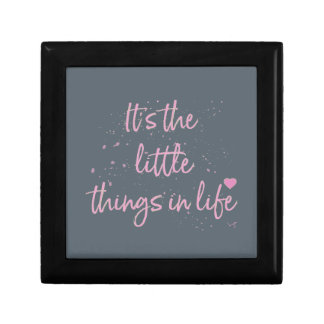 Its-the-little-Things-in-Life-quote-Pink Gift Box