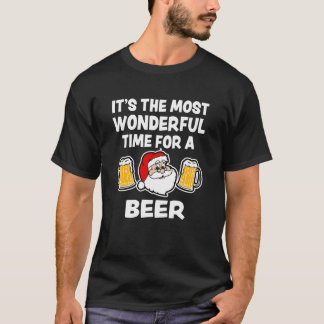 It's the most wonderful time for a Beer Christmas T-Shirt