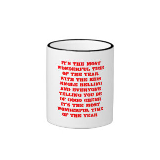 It's the most wonderful time of the year.With t... Ringer Coffee Mug
