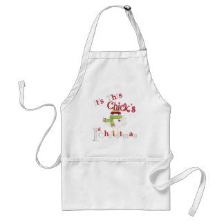 It's This Chick's 1st Christmas Standard Apron