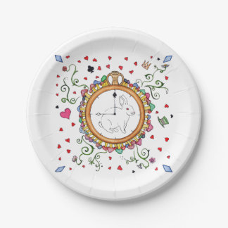 It's time Alice Paper Plate