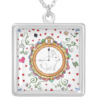 It's time Alice Silver Plated Necklace