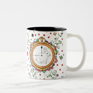 It's time Alice Two-Tone Coffee Mug