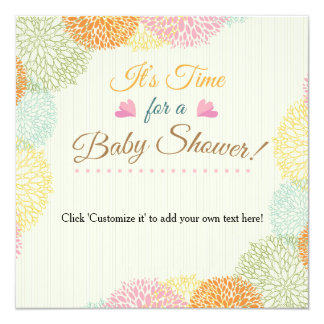 It's time for a baby shower! card