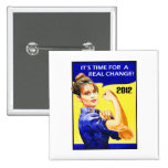 It's Time For A Change - Sarah Palin Pinback Buttons