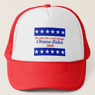 It's Time for a real change. Obama Biden Hat