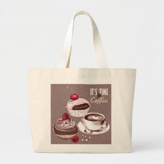 It's Time for Coffee Jumbo Tote Bag
