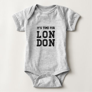 It's Time For London Baby Bodysuit