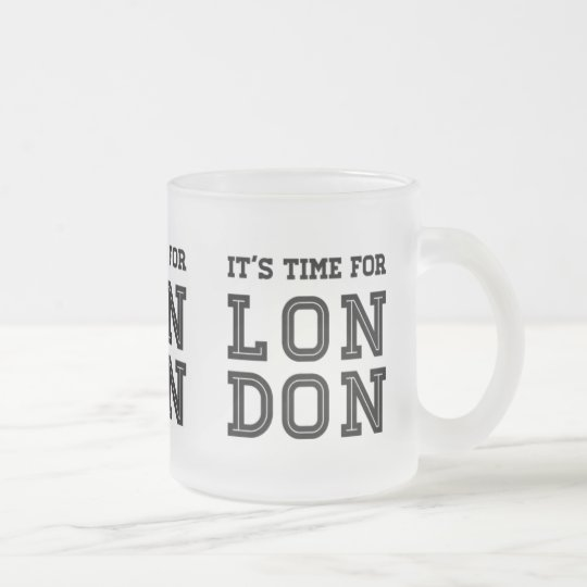 It's Time For London Frosted Glass Coffee Mug