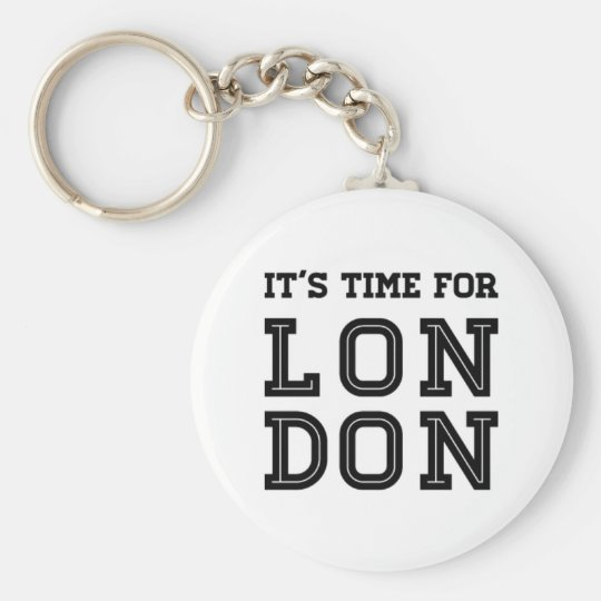 It's Time For London Keychain