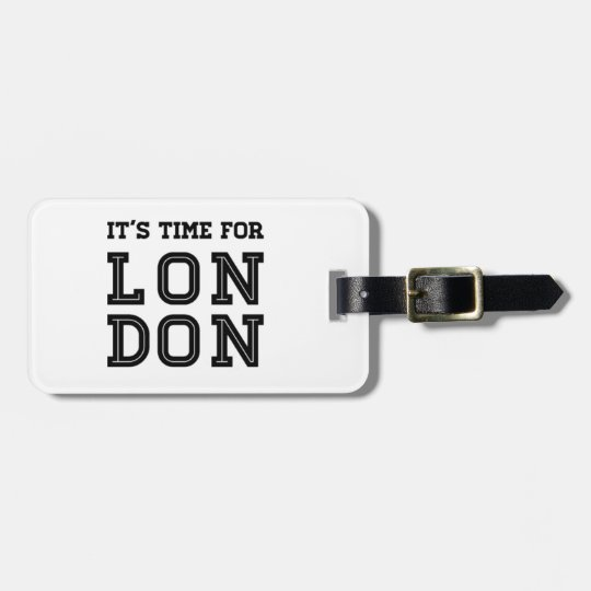 It's Time For London Luggage Tag