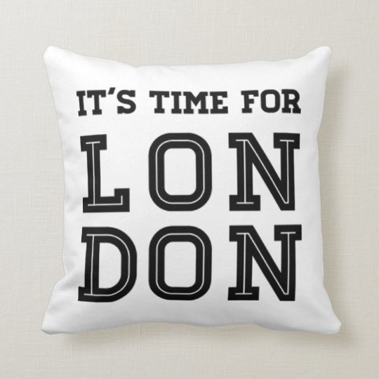 It's Time For London Throw Pillow