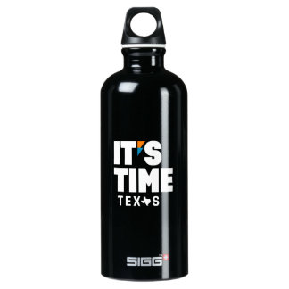 IT'S TIME TEXAS Stainless Steel Water Bottle