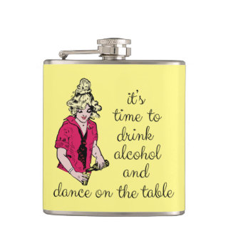 It's time to drink alcohol and dance on the table hip flask
