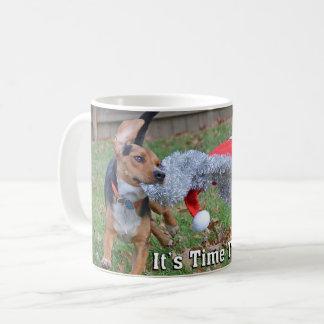 It's Time To Party! Beagle Dog Christmas Coffee Mug