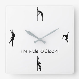 It's Time to Pole Dance! Pole Moves Wall Clock