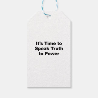 It's Time to Speak Truth To Power Gift Tags