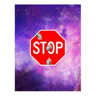 its time to stop filthy frank stop sign galaxy postcard