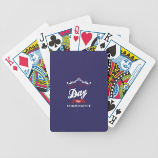 It's to beautiful day for Independence Bicycle Playing Cards