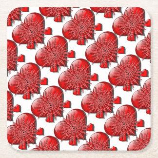 It's Valentine's Day! Square Paper Coaster