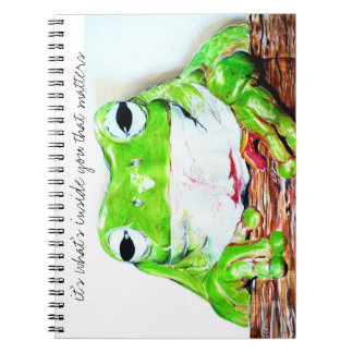 It's what's inside that matters tree frog notebooks