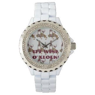It's Wine o' Clock Red Merlot Bottle Glass Watch
