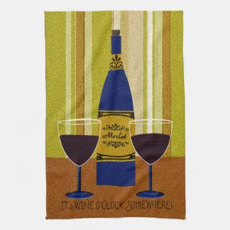 It's Wine O'Clock Somewhere Towel
