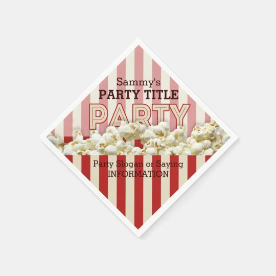 It's Your Custom Party Napkins Personalize This! Paper Napkins