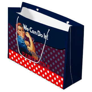It's Your Custom Rosie Party Personalize This Large Gift Bag