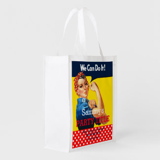 It's Your Rosie Party Reusable Personalize it Reusable Grocery Bag