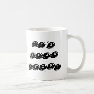 It's Your Story typewriter Writers Mug