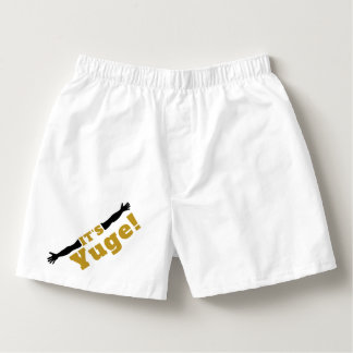 It's Yuge in Gold Boxers
