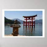 itsukushima torii japan poster