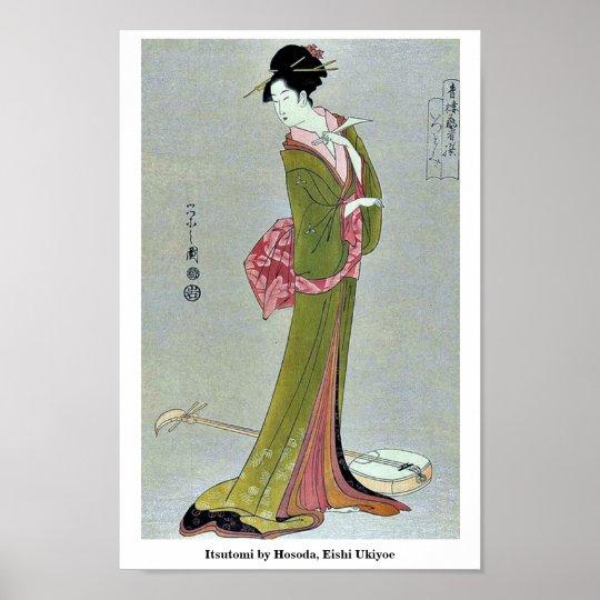 Itsutomi by Hosoda, Eishi Ukiyoe Poster