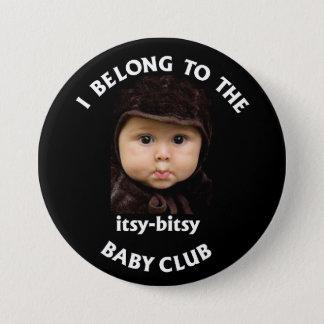 itsy bitsy baby club 3 inch round button
