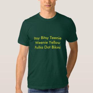 Itsy Bitsy Teenie Weenie Yellow Polka Dot Bikini Tshirts