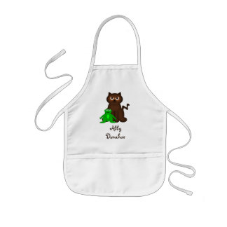 Itty Bitty Kitty and Little Green Buddy Kids Apron