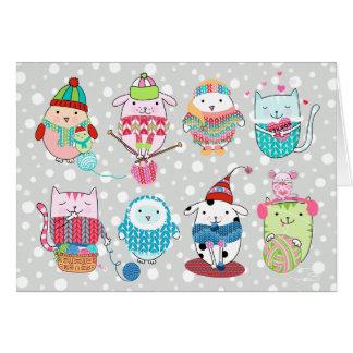 Itty Bitty Knitting Committee Card 5 x 7