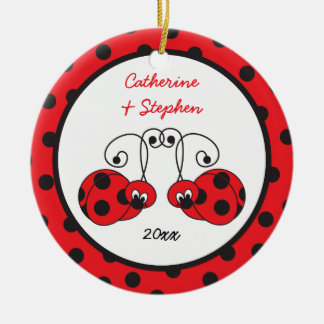 Itty Bitty Ladybug Couple Ornament