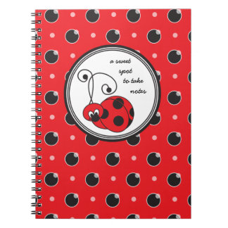 Itty Bitty Ladybug Notebook - Red