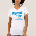 iTweet Twitter Blue Bird Ladies T-Shirt