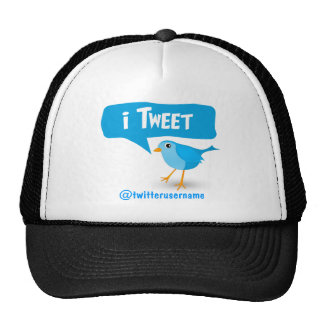 iTweet Twitter Cute Blue Bird Hat