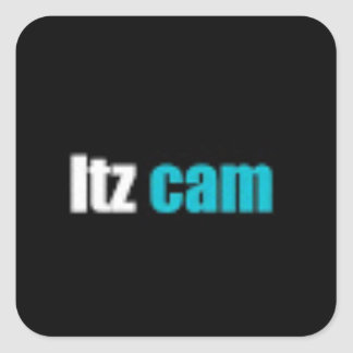 Itz cam bags and wrapping square sticker