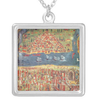 IUK T.5964 View of Istanbul Silver Plated Necklace