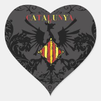 IV CATALUNYA HEART STICKER