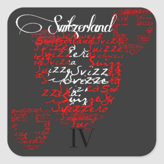 IV Switzerland Square Sticker