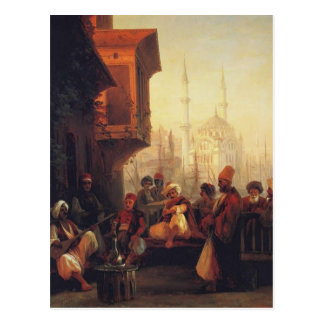 Ivan Aivazovsky-Coffee house by the Ortaköy Mosque Postcard