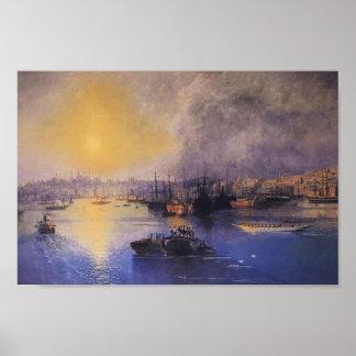 Ivan Aivazovsky- Constantinople Sunset Poster