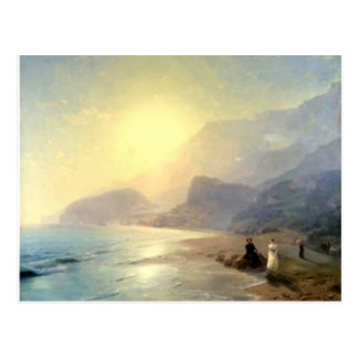 Ivan Aivazovsky- Pushkin and Countess Raevskaya Postcard