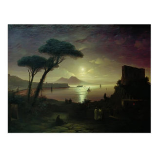 Ivan Aivazovsky-The Bay of Naples at moonlit night Postcard